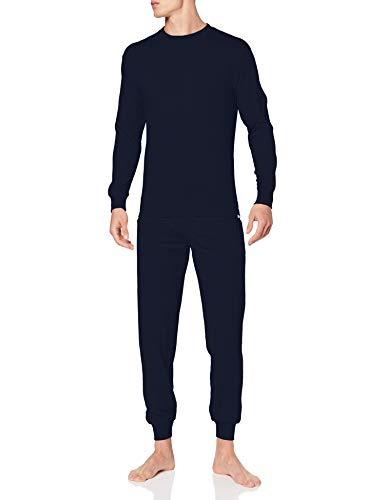 Punto Blanco Conjunto Organix Juego de Pijama, Azul, M para Hombre