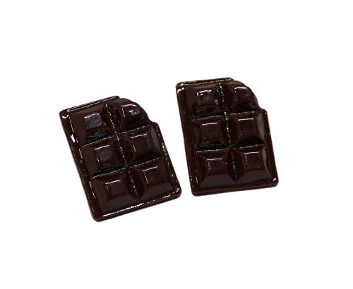 T-Ki Pendientes de chocolate con diseño de muerte de chocolate y pendientes de caramelo, hechos en el Reino Unido
