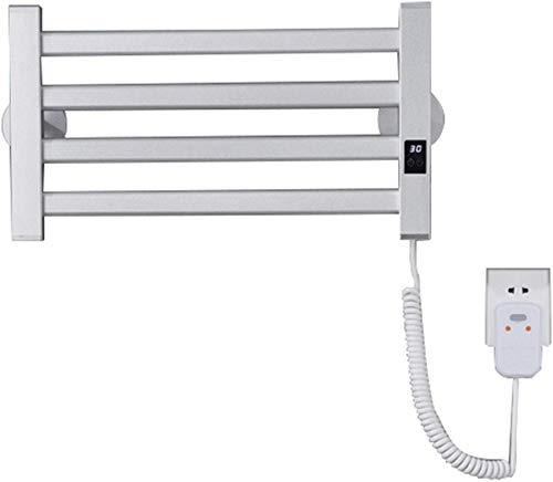 XHCP Smart Touch beheizter Handtuchhalter, 45W / 220V Badezimmer Weiß/Schwarz Elektrischer Heiztuchheizkörper Kleine Flache Wandmontage 505 * 265 * 60 mm, kohlenstoffarmes Stahlmaterial, IPX4 w