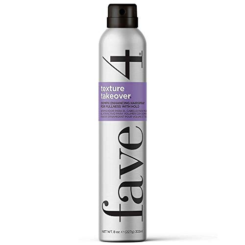 fave4 hair Texture Takeover Hairspray, Oomph Enhancing Texturizing Spray for Volume, 8 oz
