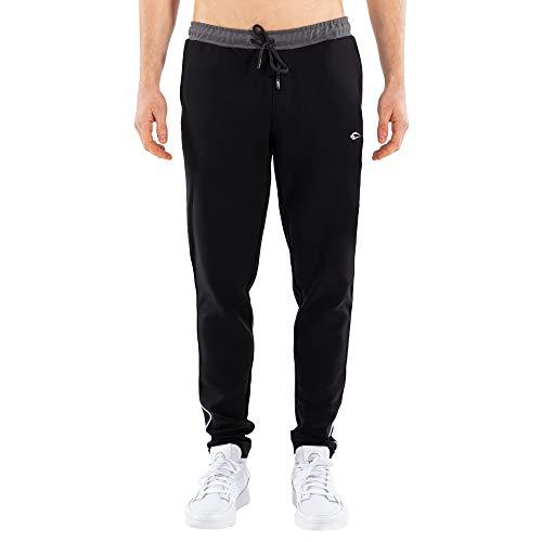 SMILODOX Herren Trainingshose Suit 1.0 Trainingshose für Sport Fitness Gym Training & Freizeit   Sporthose - Jogger Pants - Sweatpants Hosen - Freizeithose Lang, Größe:M, Farbe:Schwarz