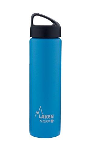 Laken Classic Botella Térmica Acero Inoxidable 18/8, Aislamiento de Vacío con Doble Pared y Boca Ancha, Azul, 1000 ml
