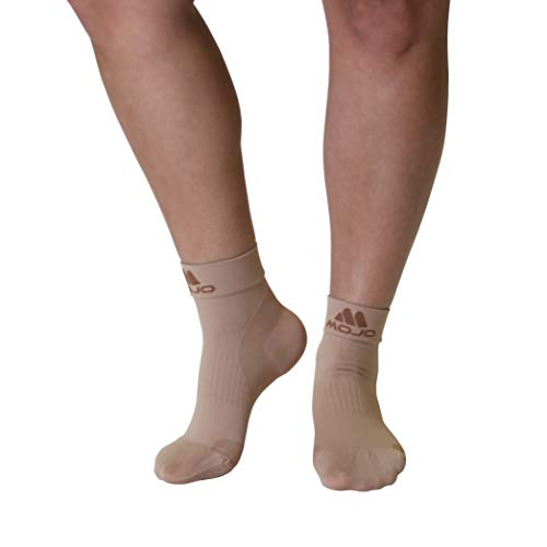 Plantar Fasciitis Sock - Support Ankle Compression Sleeve Socks - Reading Socks - Planter Sleeve Socks - 1 Pair Unisex Heel Pain Arch Support/Ankle Sock (Medium, Beige Closed Toe)
