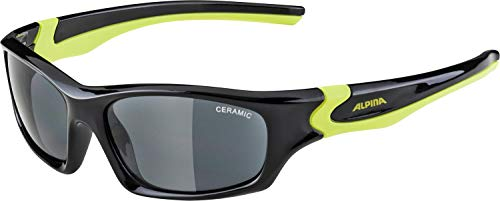 ALPINA FLEXXY TEEN Sportbrille, Kinder, black-neon yellow, one size