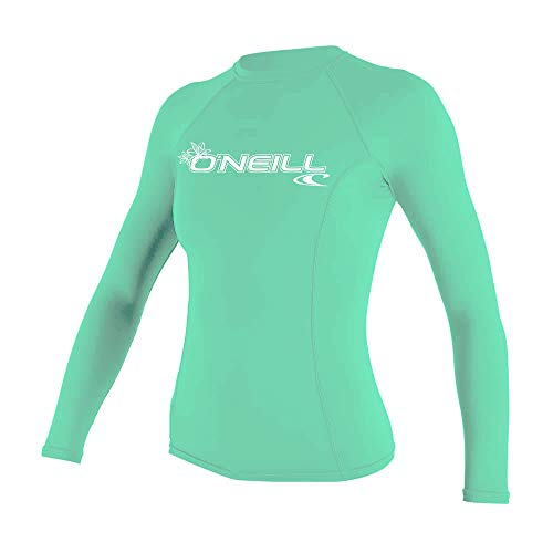 O\'Neill Wetsuits Damen Basic Skins Long Sleeve Rash Guard Shirt, Light Aqua, M