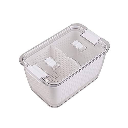 KJIU Recipientes de Almacenamiento de Cocina, Gran Capacidad con filtros, contenedores con Uso en la Ensalada de Verduras de Frutas Grey-4.5L
