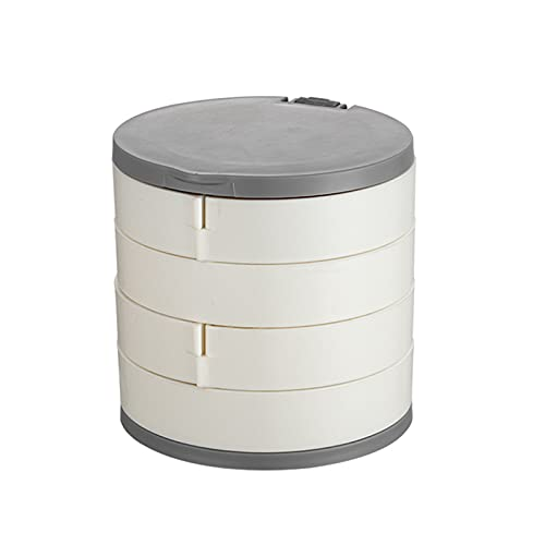 Wilany Organizador de joyas de viaje de 4 capas bandeja de exhibición portátil caja de almacenamiento accesorios titular para pendientes anillos collares