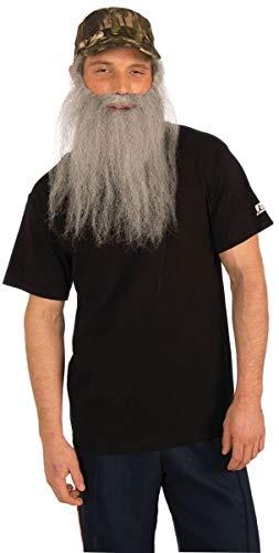 Forum Novelties Party Supplies Unisex-Adults Hunt.Man-Att.Camo Cap and Beard, Gray, Standard, Multi, Multicolor