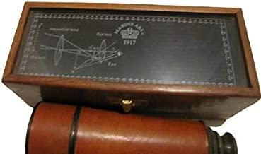 Antique Kelvin & Hughes London 1917 Marine Arts Handheld Telescope in Box