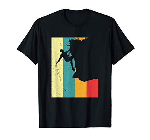 Kletterer Vintage Klettersport Klettern Klettererin Geschenk T-Shirt