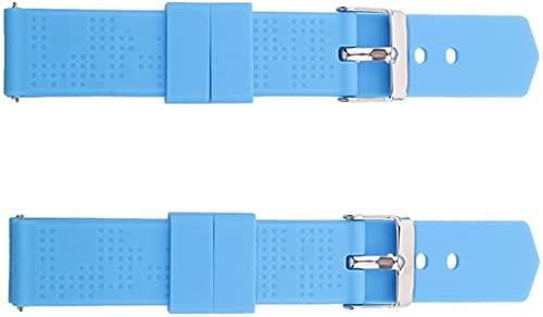 Correa de reloj Sport Edition de acero inoxidable de repuesto Smartwatch-azul, 18 mm duradero