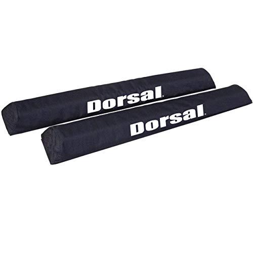 DORSAL Aero Crossbar Roof Rack Pads for Car Surfboard Kayak Sup Snowboard Racks 28 Inch Long [Pair]