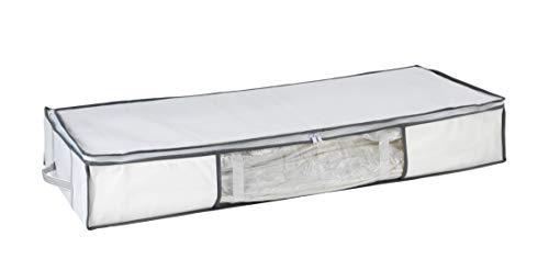 WENKO 7450023100 Vakuum Soft Unterbett-Box, Vakuum Kleideraufbewahrung, platzsparend, Polypropylen, 105 x 15 x 45 cm, Weiß