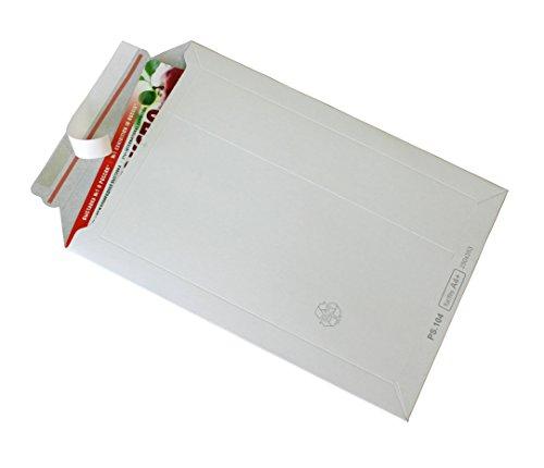 Versandtaschen Vollpappe Karton DIN A4+ - flach: 353x250mm / aufgestellt335x200x50mm (PS.104) (100)