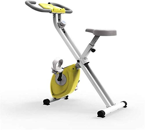 YJZ Indoor Cycling Cyclette Pieghevole Corsi di informatica ed ellittica Cross Trainer con Fitness Cardio Workout Weightloss Cicli Macchina Esercizio Machines Home Trainer