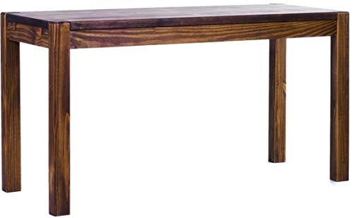 Brasilmöbel Esstisch Rio Kanto 140x80 cm Eiche antik Pinie Massivholz Größe und Farbe wählbar Esszimmertisch Küchentisch Holztisch Echtholz vorgerichtet für Ansteckplatten Tisch ausziehbar