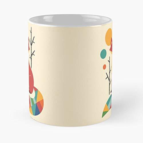 Hope Different Rainbow Special Universe Fox One Colorful Best Taza de café de cerámica de 315 ml Eat Food Bite John Best Taza de café de cerámica de 315 ml
