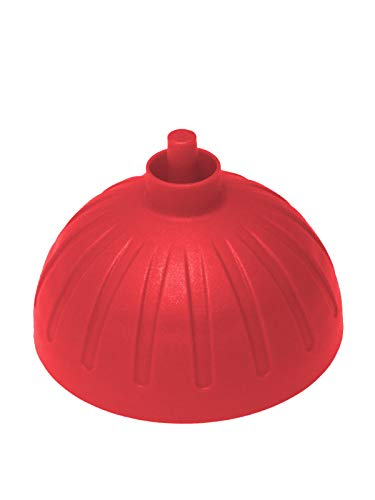 Ersatzdeckel rot für ISYbe Trinkflasche, ohne Stöpsel für Schnellverschluß