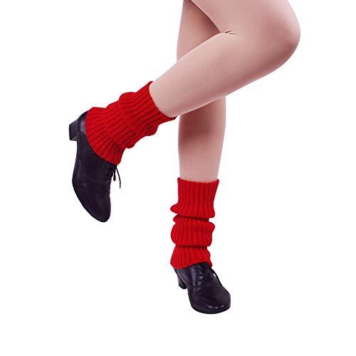 Nanxson Damen Beinwärmer Kurz Beinstulpen Winter Warm Socken Stulpen TTW0004 (rot