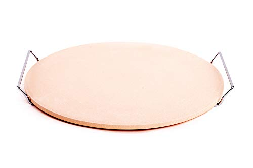 EMAKO Pizzastein Rund Backstein Steinplatte für Pizza Keramik Ø 33 cm