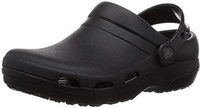 Crocs Men's and Women's Specialist II Vent Clog   Work Shoes, Black, 7