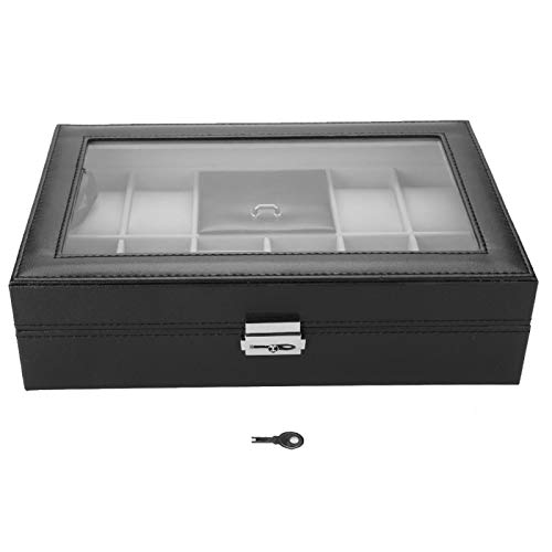 Caja de Almacenamiento de Reloj, Caja de Almacenamiento de Reloj de 8 Ranuras con diseño Elegante para Almacenamiento de Joyas en el hogar