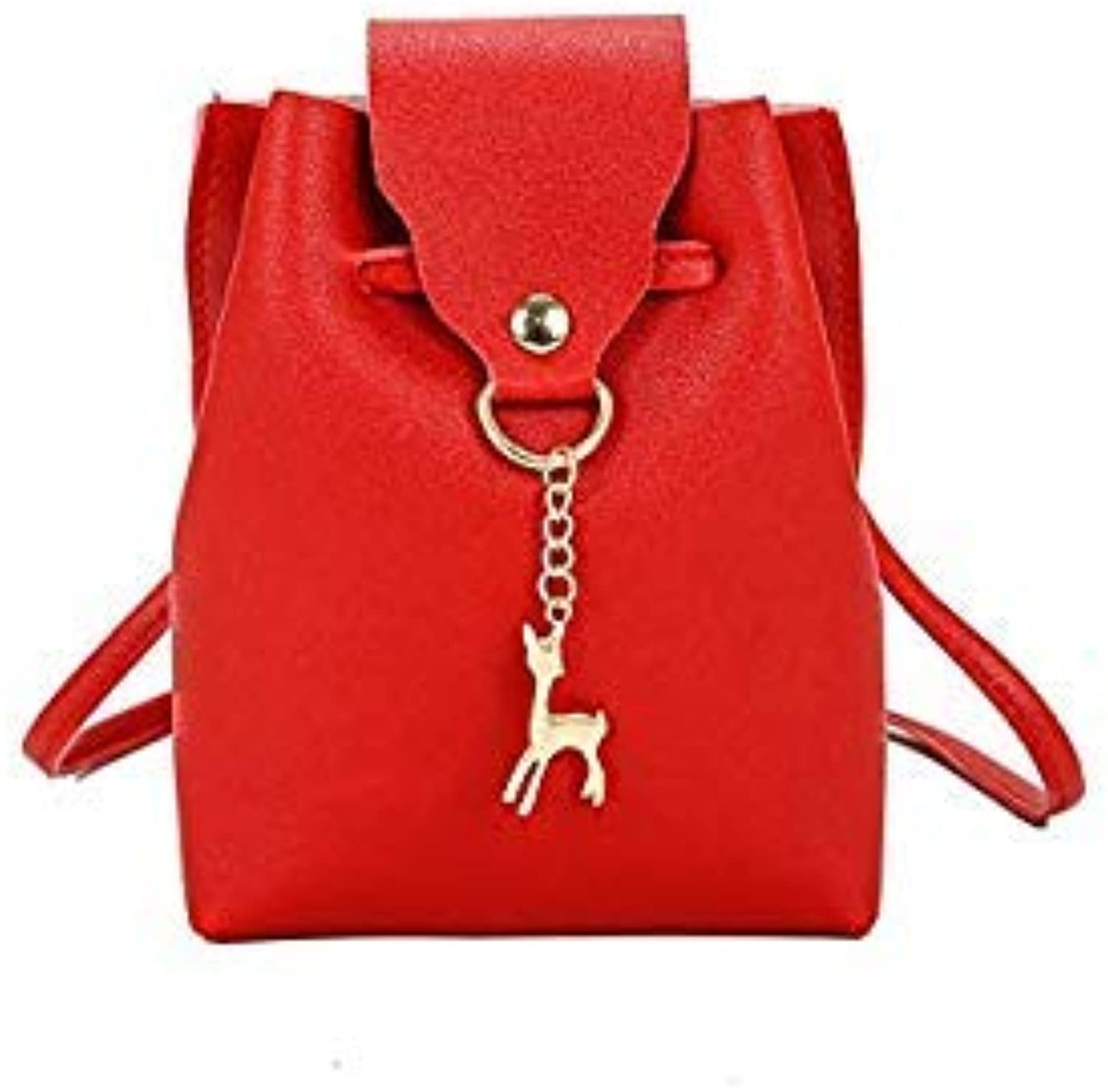 Bloomerang New Women Small Tote Messenger Bags Pure color Shoulder Bags Female Lady Leisure Street Handbags color Red