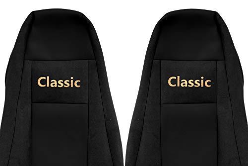 24/7Auto 2x zwarte stoelhoezen voor Scania R P G serie 2005/15 trucks