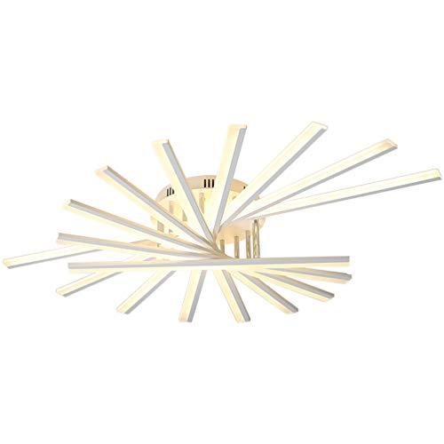 Plafonnier LED pour salon, chambre à coucher - Fixation moderne - 9 têtes