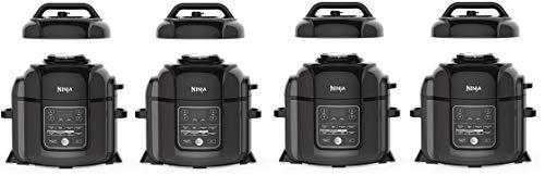 Ninja OP401 Foodi 8-Quart Pressure, Steamer, Air Fryer All-in- All-in-One Multi-Cooker, Black/Gray (Fоur Расk)