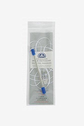 Confezione blister con aghi per chiacchierino (4 pz) + infila-ago, 6134