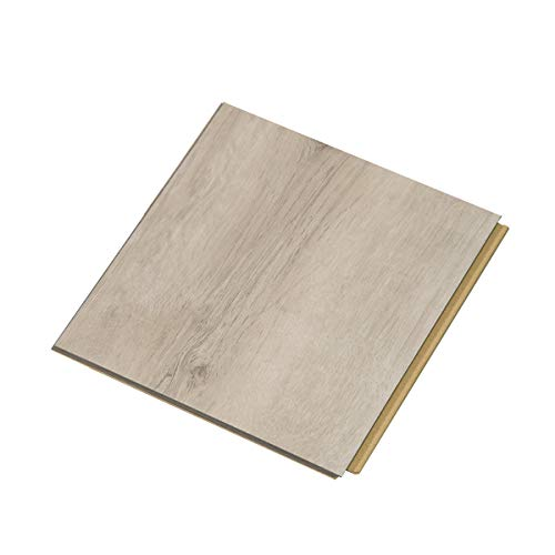 "Cali Bamboo - Cali Vinyl Plus Cork-Backed Vinyl Floor, Extra Wide, White Aspen Wood Grain - Sample Size 5-3/4"" L x 7 1/8"" W x 7mm H"