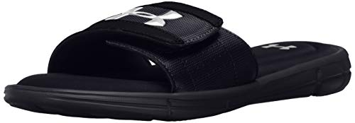 Under Armour Men's Ignite V Slide Sandal, Black (001)/White, 9