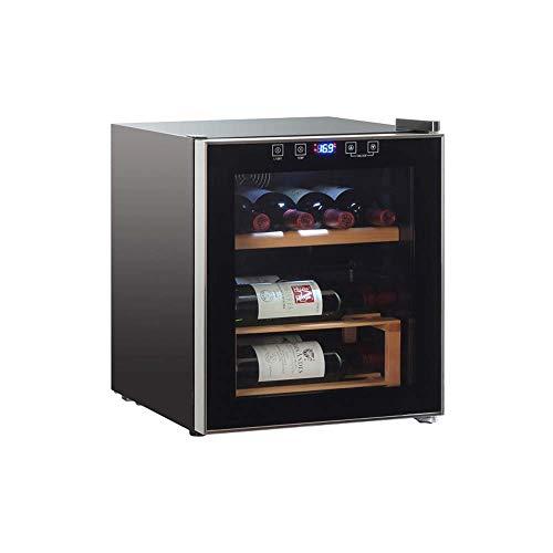 Atten Kleine Weinkühler Getränke Kühlschrank, Thekenweinkeller/Chiller, Massivholzglastür Regal Touch Control Leiser Betrieb