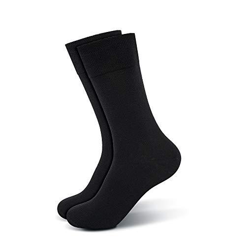 Mofreso Herren Premium Business Socken, schwarz - Paradeplatz - Baumwolle, fair produziert - Robustes Material, Zehenbereich nahtfrei - 1 Paar - 39-42