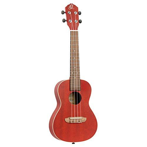 ORTEGA Ukelele Concierto Earth Series - Fire Red Acoustic (RUFIRE)