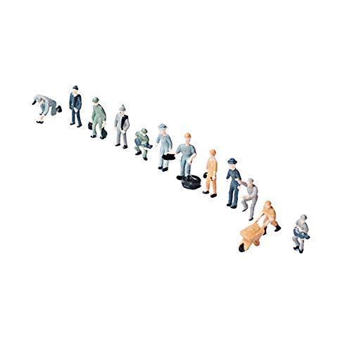 10 piezas 1: 43/1: 87 escala modelo de diorama figuras de trabajadores ferroviarios figuras de personas en miniatura diseño de mesa de arena tren de hombre de plástico escena de villano arquitectónico