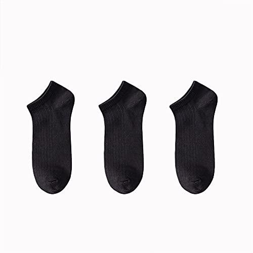 GCHBST 3 Pares De Calcetines De Algodón De Algodón Peinado para Hombres. Entrenamiento Deportivo Funcionando Calcetines De Corte Bajo - Tamaño 6-11,1,One Size