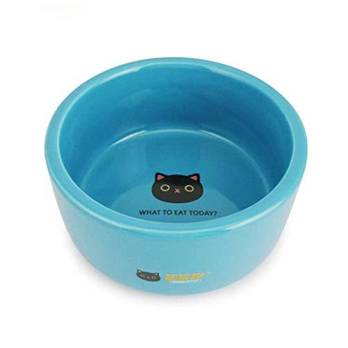 ZHANGYY Ceramic Bowl for Cat, Pet Dog Feeder, Raised Cat Feeding Station Stand Make Kittens More Like (Color : Orange)