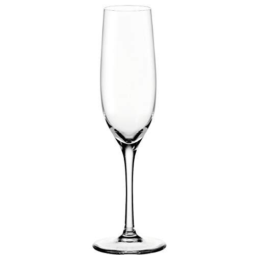 Leonardo Ciao+ Sekt-Gläser, Sekt-Kelch mit gezogenem Stiel, spülmaschinenfeste Prosecco-Gläser, 6-er Set, 280 ml, 061445