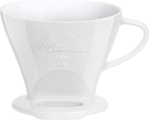 Melitta 218967 Filter Porzellan-Kaffeefilter Größe 102 Weiß