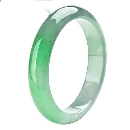 Natürlicher Jadeit Jade Armreif Smaragd Armband Damen Klassischer Grüner Jade Armreif Mit Geschenkbox,62mm