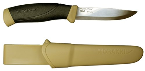 Morakniv M-13216 Companion Fixed Blade Outdoor Knife with Sandvik Stainless Steel Blade, 4.1-Inch, Desert Tan
