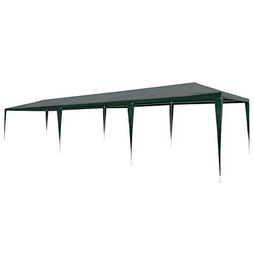 "Price comparison product image vidaXL Party Tent 118.1""x354.3"" PE Green Outdoor Canopies Pavilion Gazebo"