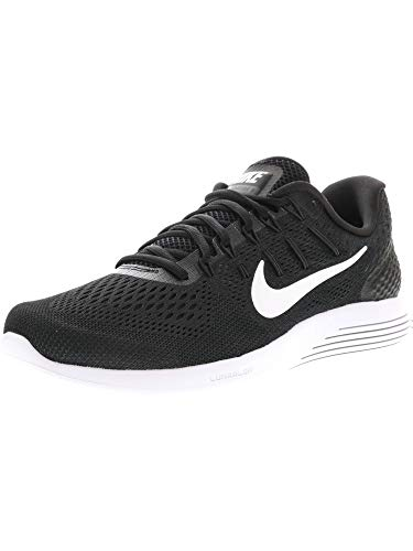 Nike Lunarglide 8 Mens Running Trainers AA8676 Sneakers Shoes (UK 10.5 US 11.5 EU 45.5, Black White Anthracite 001)
