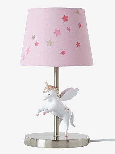 VERTBAUDET Lámpara de mesa Unicornio Rosa UNICA