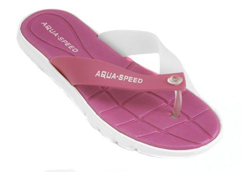 Aqua-Speed Damen Bali Pool Schuhe L rosa/weiß