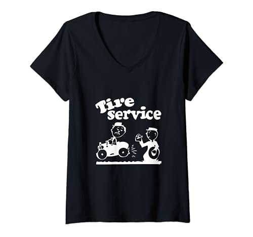 Mujer Servicio de neumáticos Mecánico Taller Uniforme Camiseta Cuello V