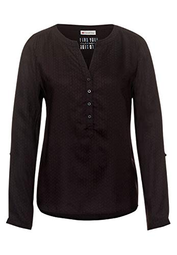 Street One Damen Bluse mit Muster Burnt Sienna red 40