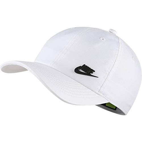 Nike Kinder Y NK H86 Cap Metal Futura Hat, White/Black, One Size